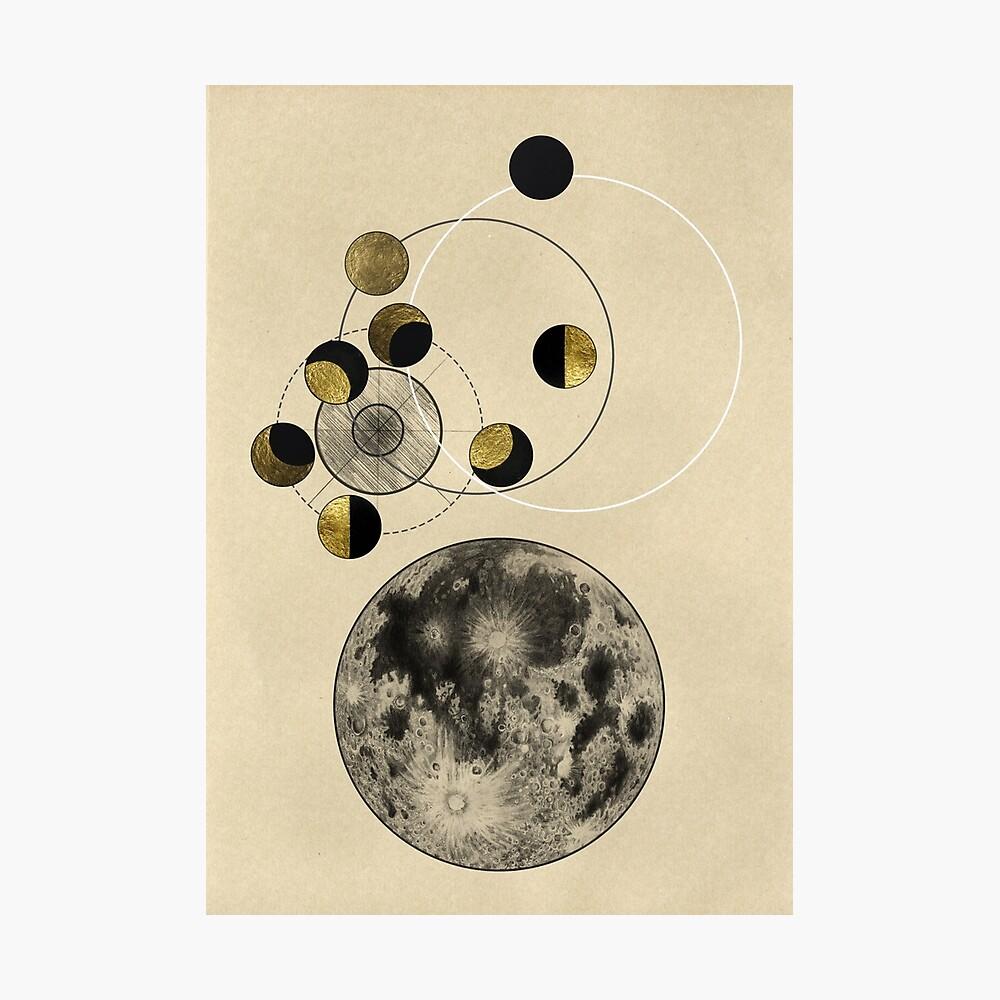 Phasen des Mondes Fotodruck