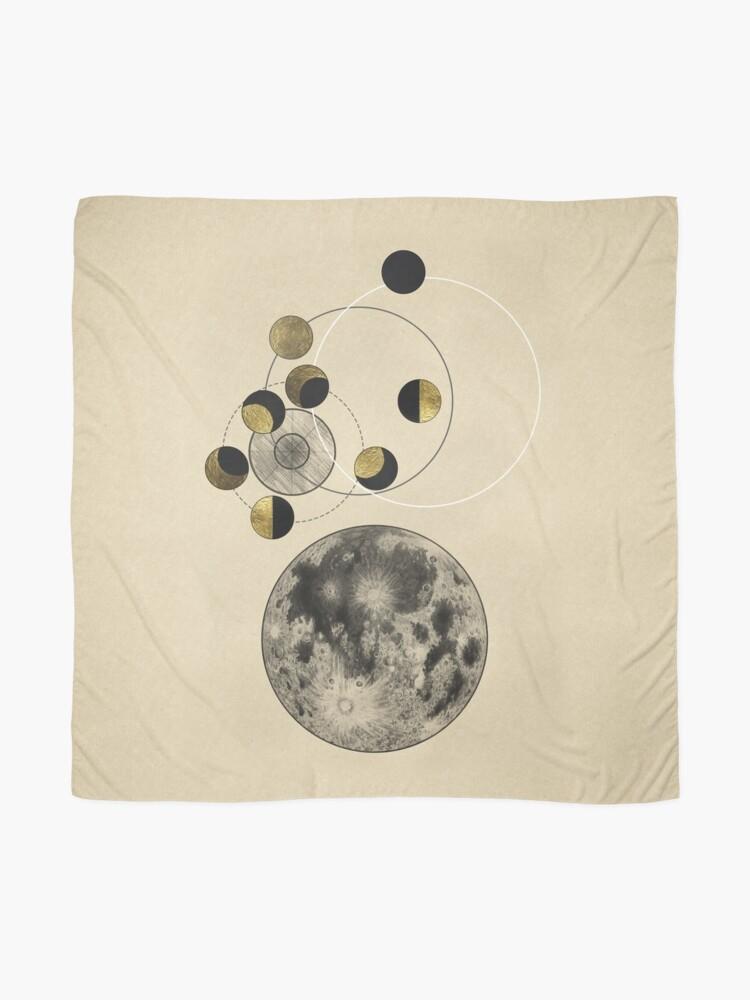 Alternative Ansicht von Phasen des Mondes Tuch