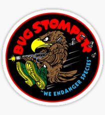 Bug Stomper Sticker