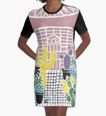 Cacti & Succulent Greenhouse Graphic T-Shirt Dress