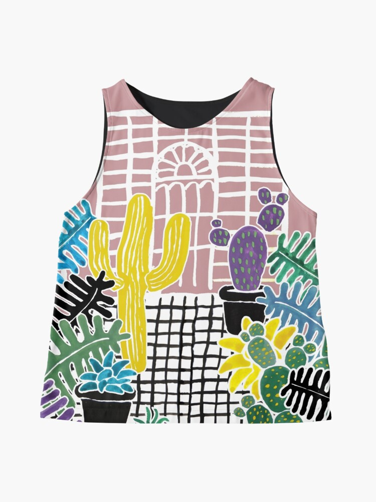 Alternate view of Cacti & Succulent Greenhouse Sleeveless Top