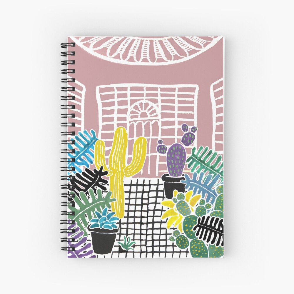 Cacti & Succulent Greenhouse Spiral Notebook