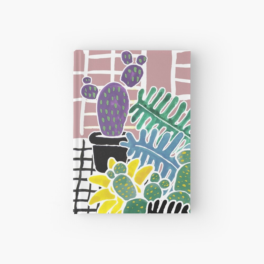 Cacti & Succulent Greenhouse Hardcover Journal
