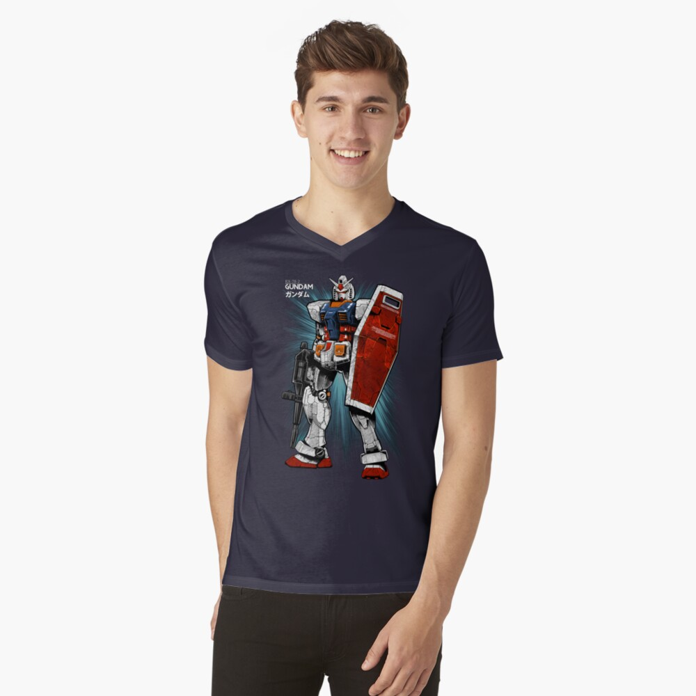 Gundam V-Neck T-Shirt