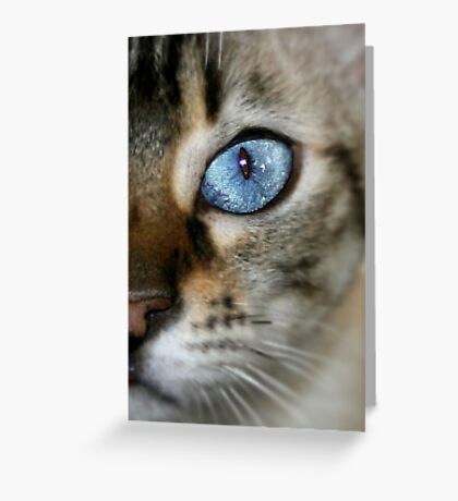 pretty blue Greeting Card