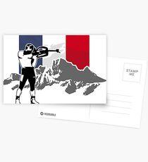 Biathlon - France Flag Postkarten