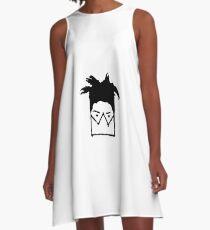 Jean Michel Basquiat Mask illustration A-Line Dress