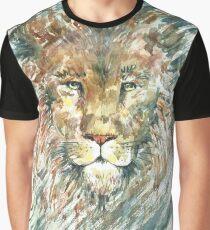 Lion. Watercolor absrtact portrait. Graphic T-Shirt