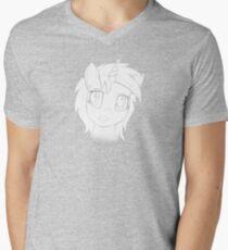 Vinyl Scratch sketch - Design 1 - Mens V-Neck T-Shirt