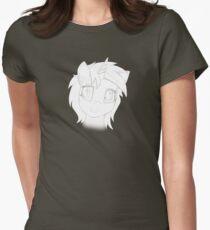 Vinyl Scratch sketch - Design 1 - Womens Fitted T-Shirt