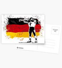 Biathlon - Germany Flag Postkarten