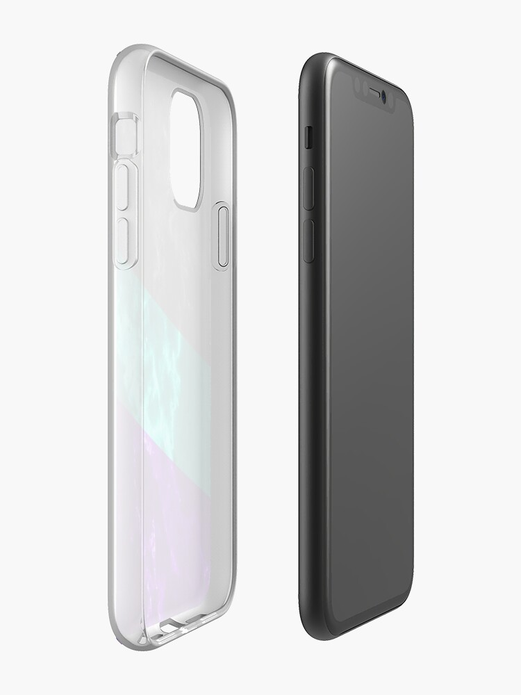 Coque iPhone «Conception esthétique de cercle de marbre», par warddt