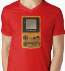 Classic transparent yellow mini video games Men's V-Neck T-Shirt