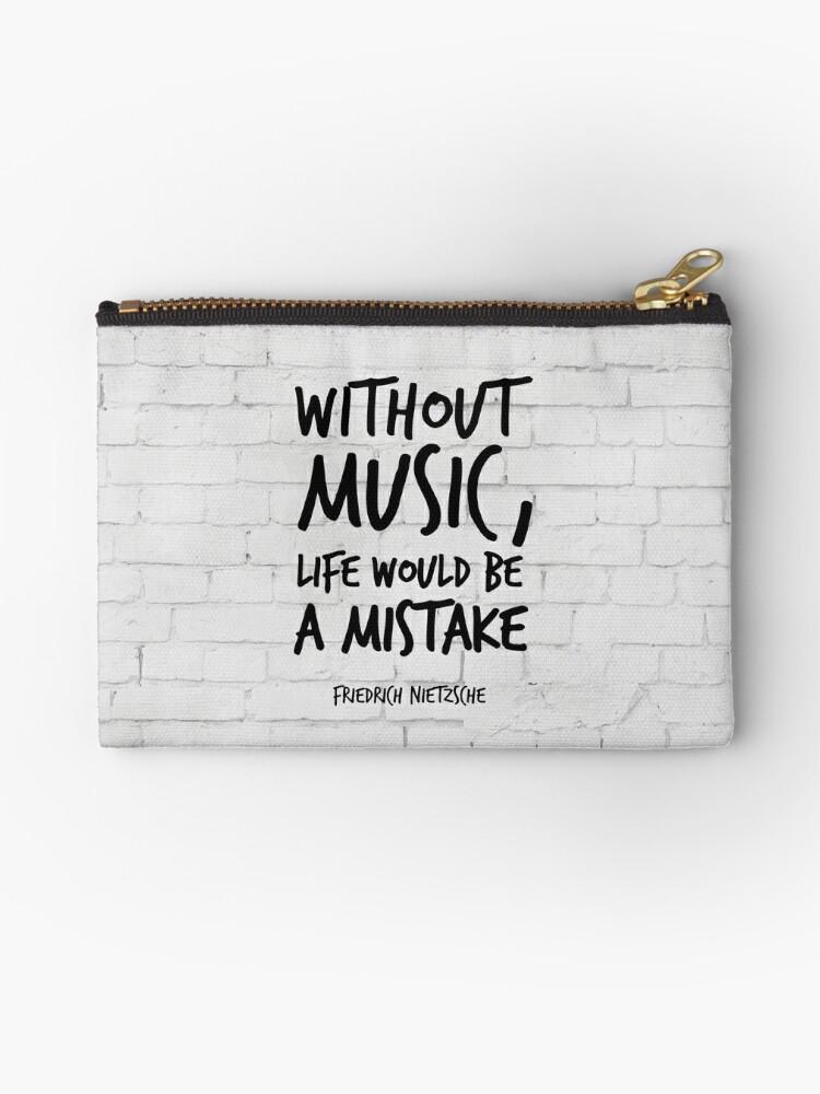 Ohne Musik Wäre Das Leben Ein Fehler Inspirierende Zitate Kunst Friedrich Nietzsche Life Quotes über Musik Täschchen Von Inspirational4u