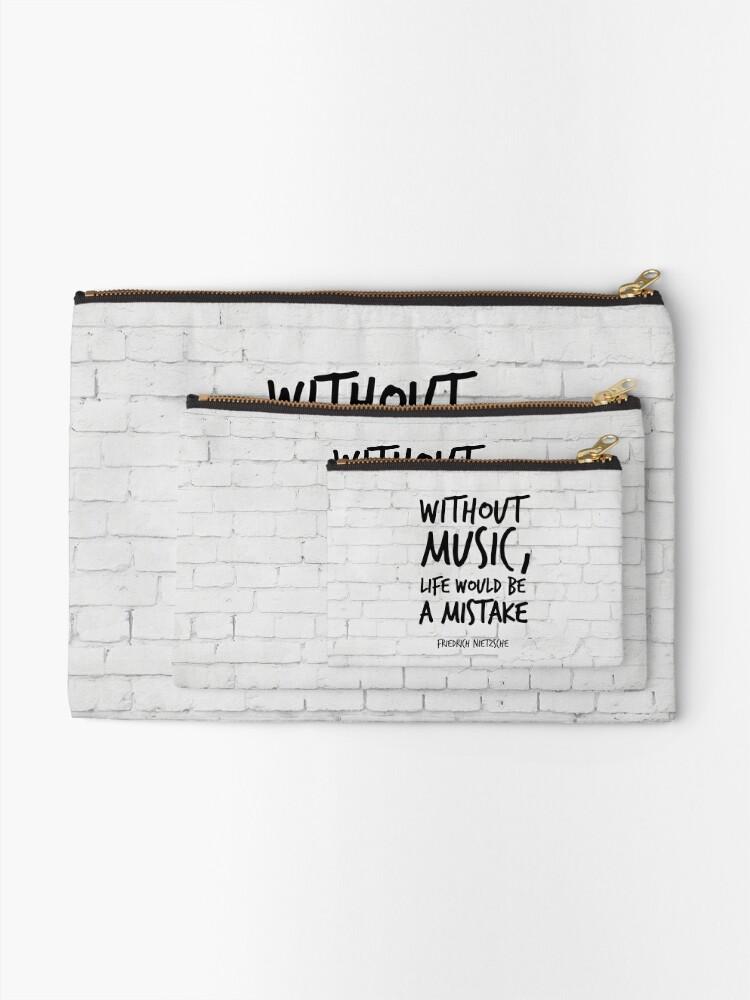 Ohne Musik Wäre Das Leben Ein Fehler Inspirierende Zitate Kunst Friedrich Nietzsche Life Quotes über Musik Täschchen