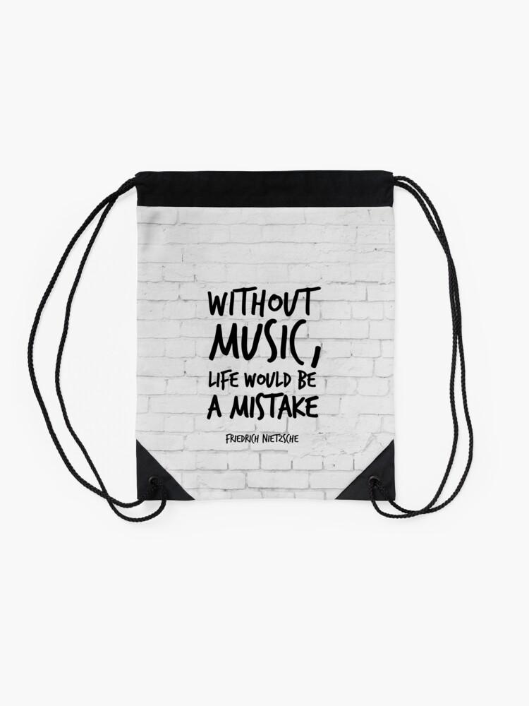 Ohne Musik Wäre Das Leben Ein Fehler Inspirierende Zitate Kunst Friedrich Nietzsche Life Quotes über Musik Turnbeutel