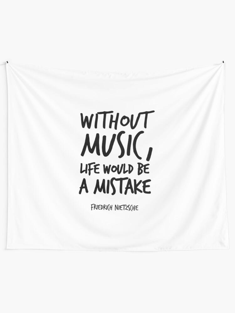 Citation Nietzsche Musique : Illustration de guitare citation nietzsche musique cadeau etsy