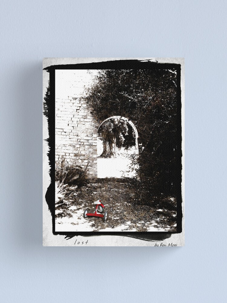 Alternate view of l o s t Canvas Print
