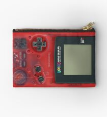 Classic transparent dark RED mini video games Studio Pouch