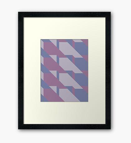 Lavender Way #redbubble #lavender #pattern Framed Print