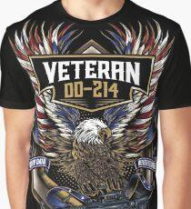 Veteran DD-214 American Eagle Patriots Graphic T-Shirt