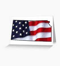 Patriotic Kansas Greeting Card