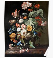 Vintage Floral Oil Painting Poster