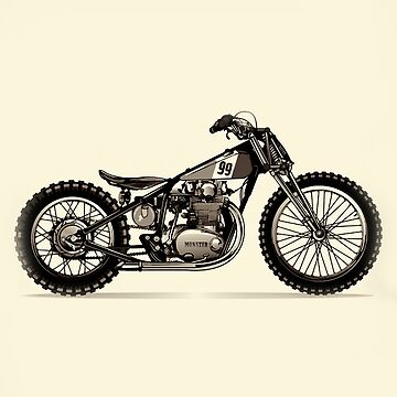 Vintage Chopper Monster Motorcycle by marlenewatson