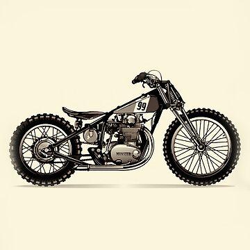 Vintage Chopper Monster Motorcycle by marlenewatson