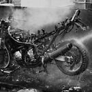 Hard ride b&w by Simon Duckworth