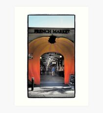 Welcome to the Market Art Print