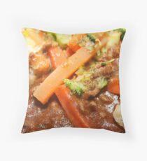 Mixed Veg Throw Pillow