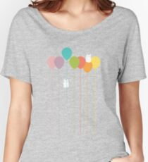 Fluffy bunnies and the rainbow balloons Women's Relaxed Fit T-Shirt