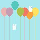«Conejitos mullidos y globos del arco iris» de EuGeniaArt