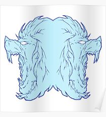 Ice lion Poster