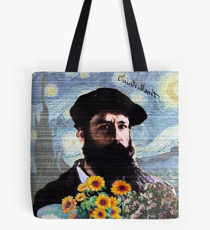 Claude Monet Mashed Tote Bag