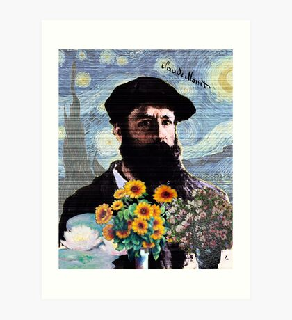 Claude Monet Mashed Art Print