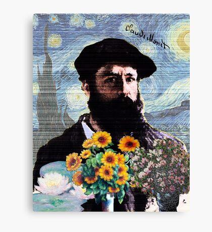 Claude Monet Mashed Canvas Print