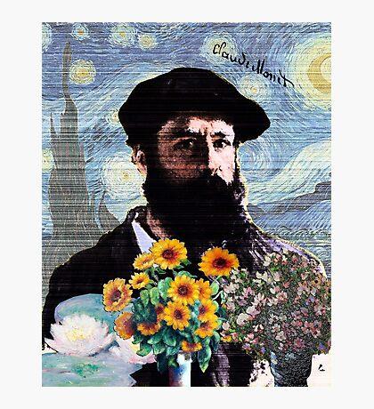 Claude Monet Mashed Photographic Print
