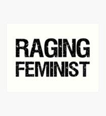 Raging Feminist Art Print