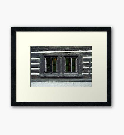 Eyes of an old house Framed Print