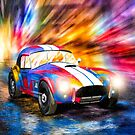 Shelby Cobra - Classic 1960s Racing Car In The Rain by Mark Tisdale