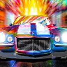 Classic Camaro - 1972 Chevy Camaro Artwork by Mark Tisdale