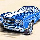 Classic 1970 Chevelle SS - American Muscle Car by Mark Tisdale