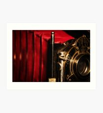 Scarlet a vintage Kodak Folding Camera retro art Art Print