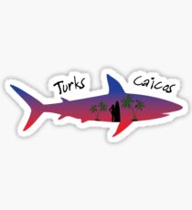 Turks and Caicos shark Sticker