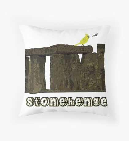 Stonehenge Bird Throw Pillow