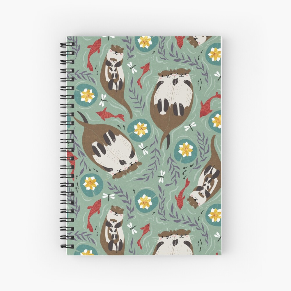 Happy Otters Spiral Notebook