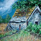 Shed in the woods by Carole Russell