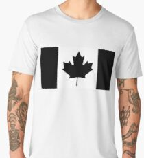 CANADA, CANADIAN, Canadian Flag, National Flag of Canada, Funeral, Mourning, A Mari Usque Ad Mare, Pure & Simple, in BLACK Men's Premium T-Shirt